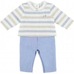 Mayoral Baby Boys Stripes Top Blue Trousers All In One Outfit