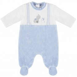 Mayoral Baby Boys White Blue Straps Romper