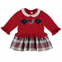 Mayoral Baby Girls Red Tartan Dress