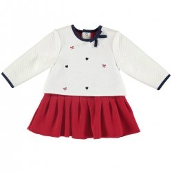 Mayoral Baby Girls Ivory Red Dress