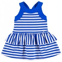 Mayoral Girls Girls Royal Blue White Stripes Dress