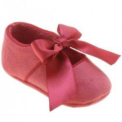 53fd954eda65a Mayoral Baby Girls Blush Pink Ribbon Velour Shoes