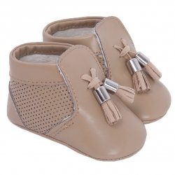Mayoral Baby Boys Caramel Pram Shoes With Tassels
