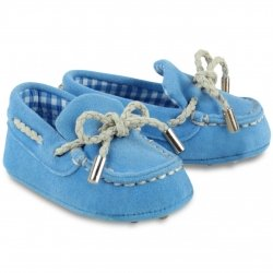 Mayoral Baby Boys French Blue Pram Shoes Moccasins Style