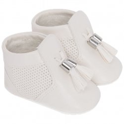 Mayoral Baby Boys Ivory Booties Pram Shoes With Tassels