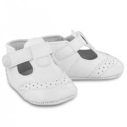 Mayoral Baby Boys White T Bar Pram Shoes