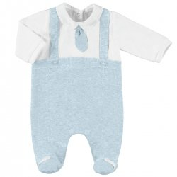 Sale Baby Boys White Blue Smart Romper Outfit