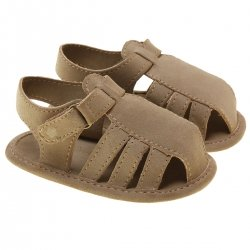 Mayoral Baby Caramel Brown Faux Leather Sandals