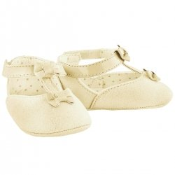 Baby Girls Ivory Faux Suede Mary Jane Shoes