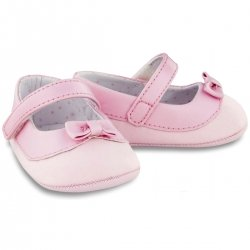 Baby Girls Pink Shoes With Bows