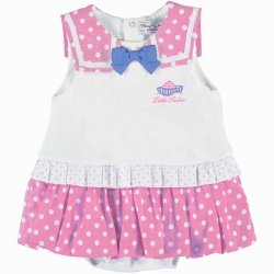 Mayoral Sale Baby Girls Pink White Sailor Dress