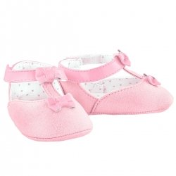 Baby Girls Pink Faux Suede Mary Jane Shoes