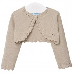 Mayoral Baby Girls Almond Tan Bolero