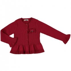 Girls Red Cardigan From Mayoral