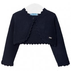 Mayoral Baby Girls Navy Frills Cardigan