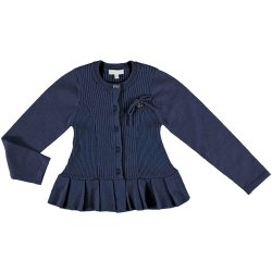 Mayoral Girls Navy Knitted Cardigan Top