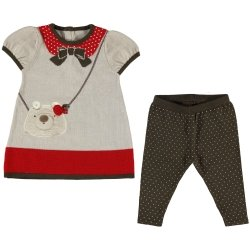 Mayoral Sales Baby Girls Red Knitted Dress Set