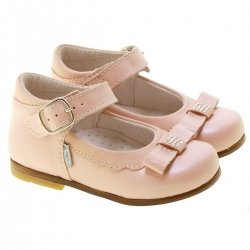 Made In Italy Girls Pink Leather Shoes
