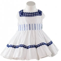 Sale Spring Summer Miranda Baby Dress Navy Lace
