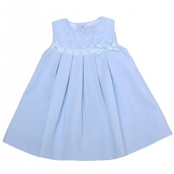 Miranda 2018 Spring Summer Baby Girls Blue Dress White Lace Blue Bow