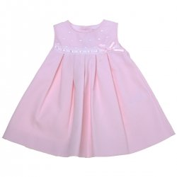 Miranda 2018 Spring Summer Baby Girls Pink Dress White Lace Pink Bow