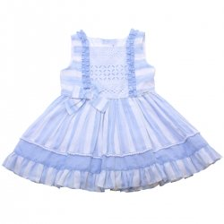 Miranda 2018 Spring Summer Girls Blue White Stripes Dress