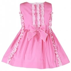 Miranda Spring Summer Girls Pink Dress Pink Bow