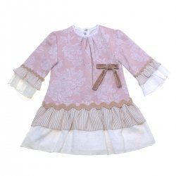 Sale Miranda Girls Pale Pink Dress CaramelBows