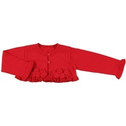 Mayoral Baby Girls Knitted Red Bolero Cardigan