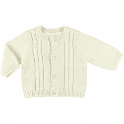 Mayoral Baby Boys Off White Cardigan 100% Fine Cotton