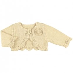 Mayoral Baby Girls Light Brown Bolero
