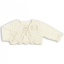 Mayoral Baby Girls Ivory Bolero