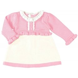 Mayoral Baby Sales Pink and Ivory Dress
