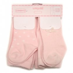 Two pairs Mayoral baby girls tights in pink