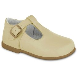 Mayoral Baby Ivory Shoes T Bar Design