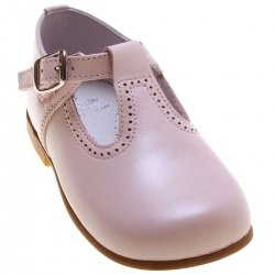 Baby And Toddler Pink Leather T Bar Shoes