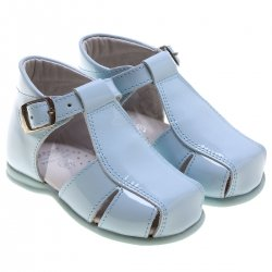 Baby Boys Baby Blue Patent Leather Sandles