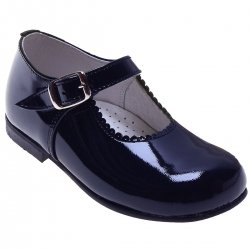 Classic Mary Jane Navy Shoes In Patent For a Toddle Girl