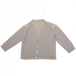 Baby Boys Tan or Sand or Light Brown Colour Soft Cotton Cardigan