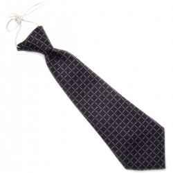 Baby boys tie in black with lilac squares