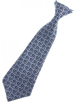 Baby boy tie in grey with black sqaure