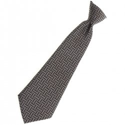 Baby boys tie in grey with black And grey stripes