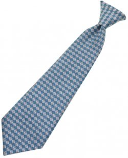 Up to 4 Years boys tie in blue And grey diamonds