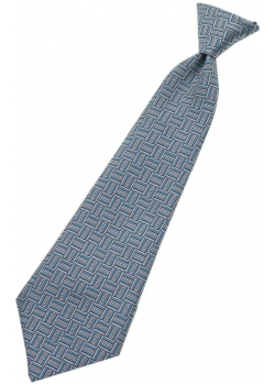 Up to 4 years boys tie in blue And grey stripes