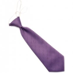Baby boys tie in purple with black dots