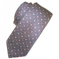 Boy tie grey with red circles