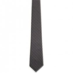 Boy tie grey with black dots