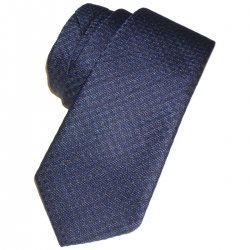 Boys tie in navy with small black squares