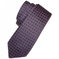 Boys tie in black with purple squares