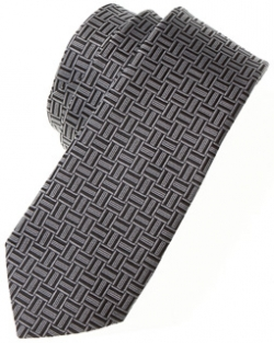 Boys tie in grey with black And grey stripes